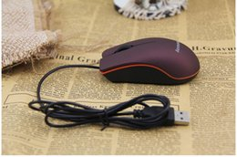 Wholesale Beautiful Lenovo M20 Wired Mouse Laptop fashion Desktop Optical Mouse USB Gaming Mouse Mice For Computer Laptop Game Mouse