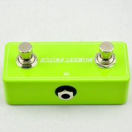 El pie del pedal interruptor de la guitarra en Línea-2016 NUEVO dos botón momentáneo remoto conmutador de pedal Verde - Interruptor de la guitarra eléctrica del pie