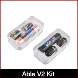 Newest Able Mod Kit Clone Able V2 kit with Able Mod AV Torpedo Cap Combo RDA Limited Edition Fit 18650 Battery freeshipping