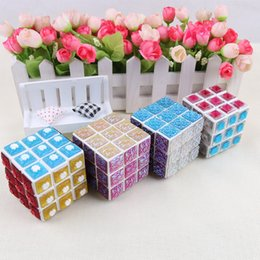 Free Shipping Crystal Rhinestones Tiles 3x3x3 65mm Magic Cube Toys for Children