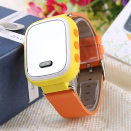 Wholesale SW50 GPS WIFI Smart Intelligent Kids Watch Muti Functional Tracking Device Yellow Wristwatch for Children Baby Student High Quality