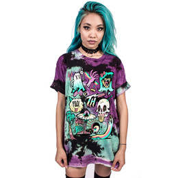 Cute monster digital printing T-shirt all-match leisure tee quick dry shirt woman