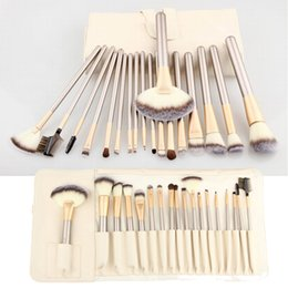 Wholesale Shipping Tube Handle - 12pcs 18pcs Luxury Makeup Brushes Kit with PU Leather Bag Case Wood Handle Tube Pro Cosmetic Face Beauty Brush Tools Set free shipping