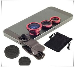 Universal 3 in 1 lens set fisheye lens samsung microscope fish-eye lens telescope wide angle lens for all samsung iphone ipad lg with clip