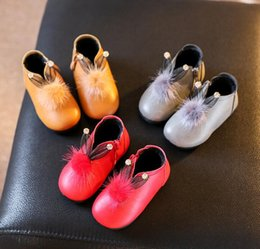 Wholesale Shoes Zipper Flower - Really plush rabbit ears earrings zipper soft bottom baby boots 2016 Christmas baby girl casual warm boots baby shoes E576