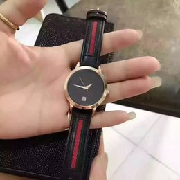 Wholesale World Top Brand Watch Women Famous Luxury Gold Round mm Wristewatch Leather Strap the best gift
