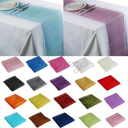 Wholesale 19 Colors Soft Sheer Fabric Organza Table Runner x275cm Chair Bows Swag Wedding Event Xmas Party Banquet Table Decor