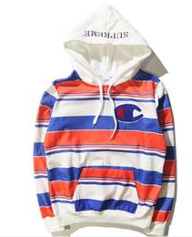 Wholesale Harajuku Brand hip hop Men Women couple basketball hoodies Tracksuit Streetwear Coat Jacket Long Sleeve Hoodie stripe Clothing hoody coats