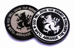 VP-77 Navy Seals God Will Judge Our Enemy Army Usa Military Tactical patches Morale Badge Embroidered Patches Badges Fabric Armband Stickers
