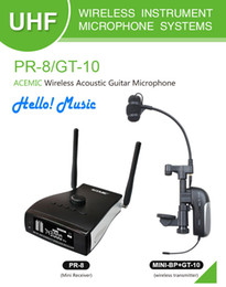 Wholesale Hot Promotional AIBIERTE ACEMIC PR GT Professional stage true diversity wireless guitar micorphone system use for Acoustic guitar