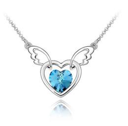 Wholesale Authentic SWAROVSKI Elements Crystal Necklace mind angel
