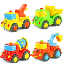Wholesale City building construction series of children s toys mini car smiley baby truck back car Inertial car WJ125