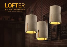 Modern Nordic cement pendant loft cafe bar counter decorative ceiling lamp living room small balcony lighting