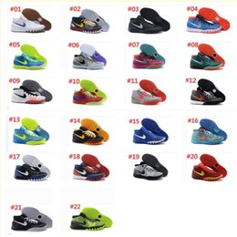 Wholesale 2016 new Kyrie Irving Man Basketball Shoes Kyrie Dream Deceptive Red Christmas Basketball Outdoor Sneakers High Quality US