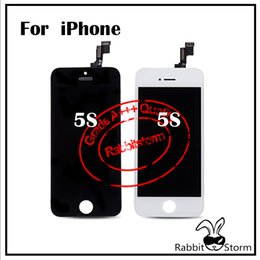 Wholesale For IPhone S G C LCD Original Glass with ear dust mesh and camera ring White or Black can order one