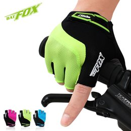 BATFOX Unisex Summer cycling Gloves Half Finger 3 Color Nylon MTB Bike Gloves For Fitness Breathable Sport Bicycle Gloves