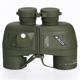Hd militar en venta-BIJIA 7x Hd portátil de navegación binoculares impermeables 7x50 ejército de visión nocturna militar telescopio con compás de medición de la distancia