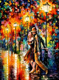 Wholesale Leonid Afremov s oil painting for pub tempter buy high quality reproduction