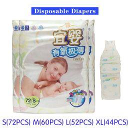 Wholesale NEW Baby diaper Disposable Diapers Pants Unisex Children underwear Soft Thin Breathable Non woven S M L XL Kids Diapering