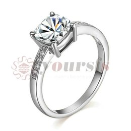 Yoursfs Womens Ladies Fashion Cubic Zirconia Wedding Rings Gold Plated