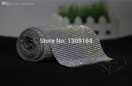 Wholesale mm rows1 meter Crystal Clear Stones Silver Plated A Hot Fix Rhinestone Mesh Trimming Aluminium base Pasted Sew on Net Drill