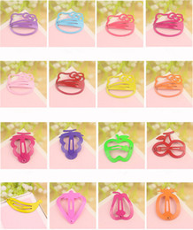 Wholesale hair jewelry New Fashion Multicolor Candy Color Painted Cute Alloy Fruit Children Hair Clips Barrettes Mix Order Random Delivery SHR076