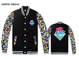 Wholesale Fall Men Jackets Pink dolphin fleece outerwear Coats brand name Men s clothing jacket hiphop autumn amp winter Apparel