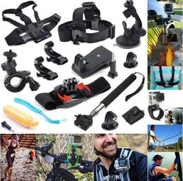 SJCAM sj4000 Accessories sets 12-In-1 Travel kit Wrist Strap +Kits Mount + Chest Belt Mount +Bobber For Go pro4 Hero 4 3+ 3 2