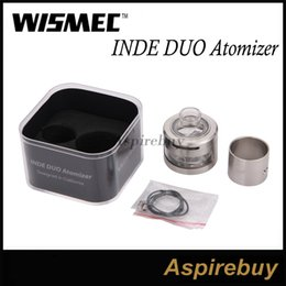 Wismec INDE DUO RDA Atomizer Airflow Control with Unique Vortex Flow Design Atomizer with 22mm and 30mm Two Choice Tubes INDE DUO RDA Tank