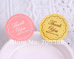 Wholesale Dia cm Thank you stickers for homemade cakes muffins cookies chocolates Seal sticker Label ss