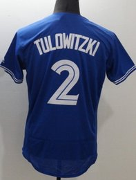Wholesale Discount Toronto Blue Jays Elite blue Tulowitzki fashion Edition Baseball Jerseys MARTIN Baseball Wear GOINS PILLAR Baseball Jersey