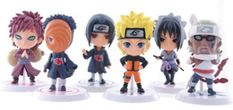 PVC Naruto action figure set Q Edition Toy Collection Naruto japanese anime figures Model toy Set