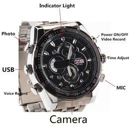 Compra Online Mini grabador de vídeo resistente al agua-8 GB Mini impermeable reloj encubierta DVR 1920 * 1080P HD Noche IR cámara de visión grabador de vídeo Mini DV Cam portátil
