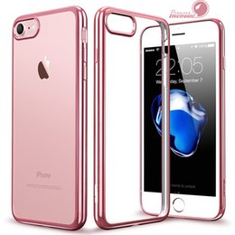 Wholesale iPhone S Case Ultra Thin Shock Resistant Metal Electroplating Technology Soft Gel TPU Silicone Case Cover for S7 S6 Note Transparen