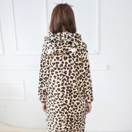 leepwear Animal Leopard Bear Pajamas Unisex Adults Animal Onesies Flannel Hoodie Cosplay Costume Onesies Pyjamas Sleepwear Home Clothes