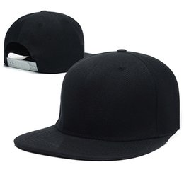 Wholesale New Black Blank Plain Snapback Hats For men women Hip Hop cap Adjustable Bboy Baseball Caps