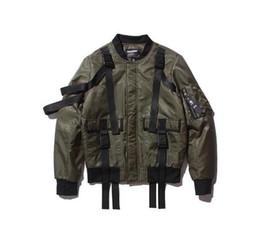 Wholesale Black green color Warm Thick MA1 Bomber Jackets Men Hip Hop Kanye Winter Bomber Jackets men Windbreaker Windrunner Coats Men