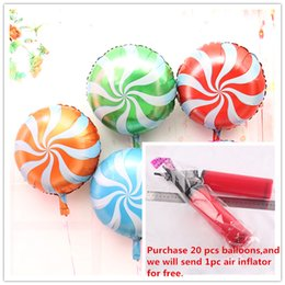 Wholesale Foil Balloons Party Decoration Inch Candy Lollipop Shaped Aluminum Film Balloon Party Balloon Party Supplies Baby Shower Birthday Balloon