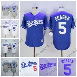 Wholesale 2016 Corey Seager Jersey Home Away White Grey Los Angeles Dodgers Uniforms