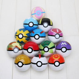 Wholesale 13pcs set ABS Action Anime Figures cm pikachu figure PokeBall Fairy Ball Super Ball poke Ball Kids Toys Gift