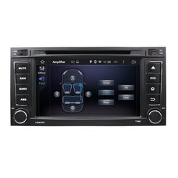 2 Din Touch Screen Android System 5.1 for Car GPS Navigation VW Touareg 2002-2010 7inch