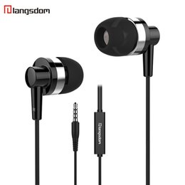 Langsdom JD89 In-Ear Earphone Super Bass 3.5MM Headset With Microphone Noise isolating Earphone for iPhone Samsung With retail box