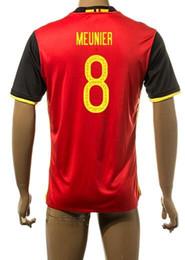 Wholesale National euro 2016 soccer Belgium team Soccer Jersey uniforms,discount Cheap 8 MEUNIER Football Jerseys Uniforms,mens Soccer Wear