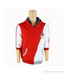 Descuento capas superiores del traje Pokeball Sudadera con capucha de la sudadera con capucha del traje de Cosplay de las tapas de la camiseta del instinto del equipo del equipo de la fuerza del equipo de la historieta OOA586