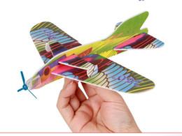 Descuento planeadores de bricolaje 2016 Hacer su propio espuma de planeador surtido de potencia Prop Flying planeadores Planeadores de pájaros aviones avión niños niños bricolaje rompecabezas juguetes
