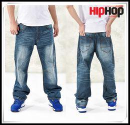 Wholesale New Hot Men Hip Hop Casual Cool Jeans Men Plus Big Size Pants Mens High Stretch Big Tall Large Blue Trouser Jeans for Men