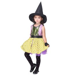 Wholesale 2016 halloween costumes for children high quality costumes cosplay witch costumes for children suits performance clothing with good service