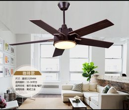 Industrial mute ceiling chandelier fan light living room dining room chandelier LED fan ceiling chandelier fan with remote control 52inch