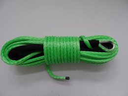 Wholesale green amsteel blue winch rope winch cable for SUV ATV recovery replacement
