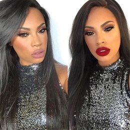 Full lace natural straight wigs 100% human hair lace wigs for black women lace front wigs with bleached knots fast shipping